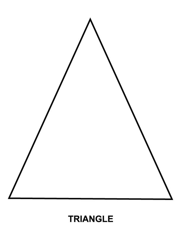 Triangle coloring page Download Free Triangle coloring page for