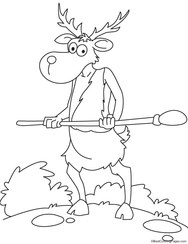 tribal animal coloring pages - photo#12