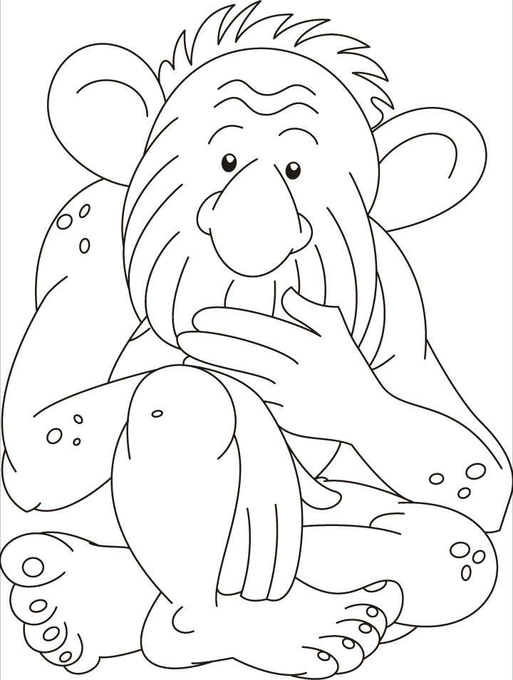 Very sad troll coloring pages