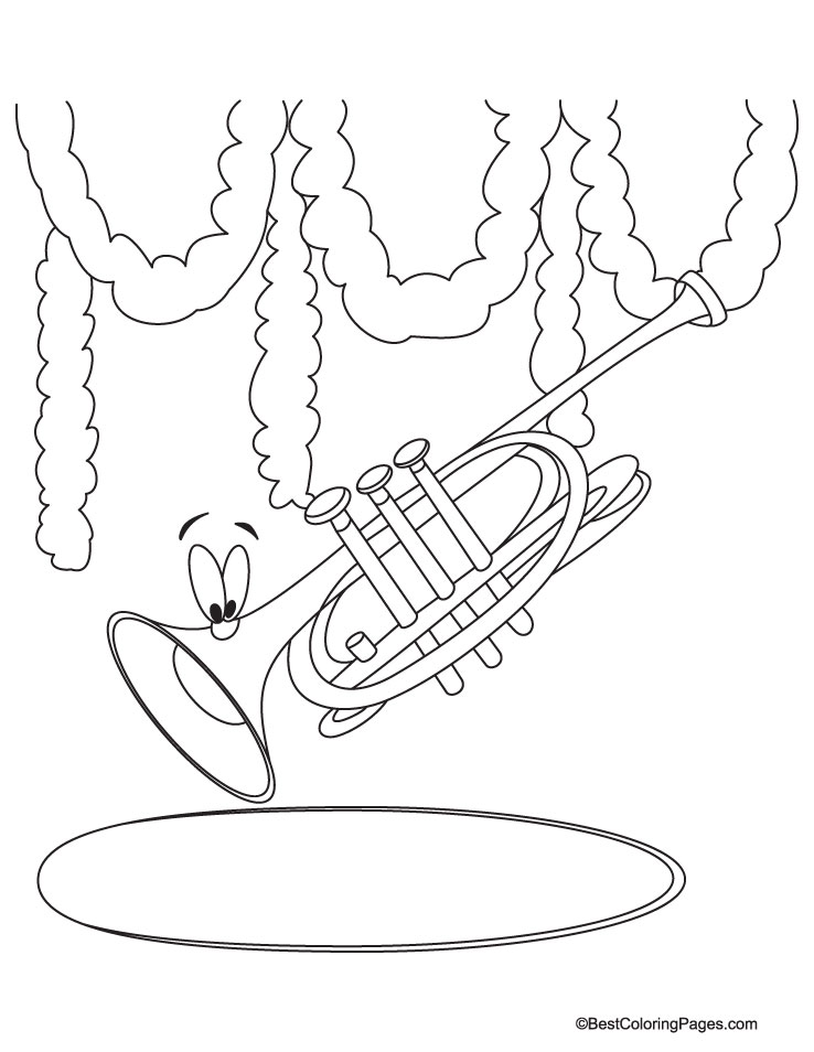 trumpet coloring page