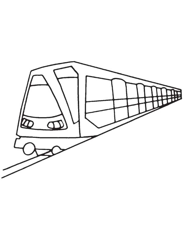 Tube metro coloring page