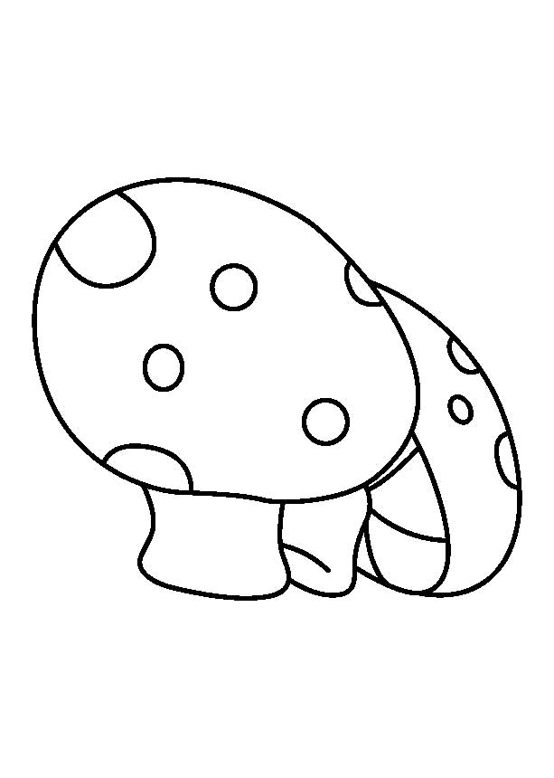 Two Small Mushrooms Coloring Page