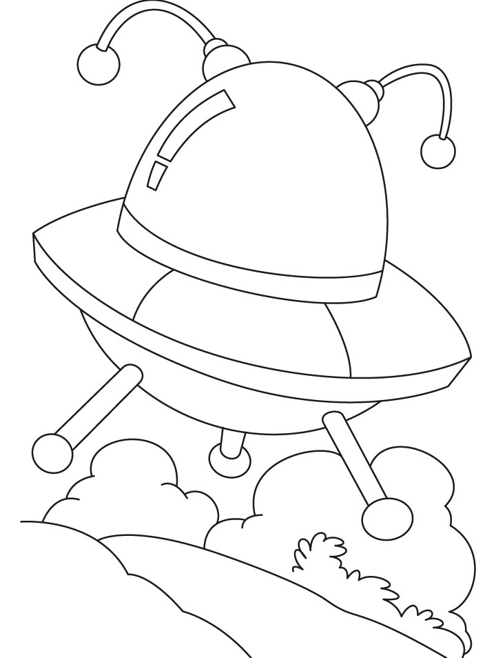 UFO an Unidentified Flying Objects coloring pages | Download Free ...