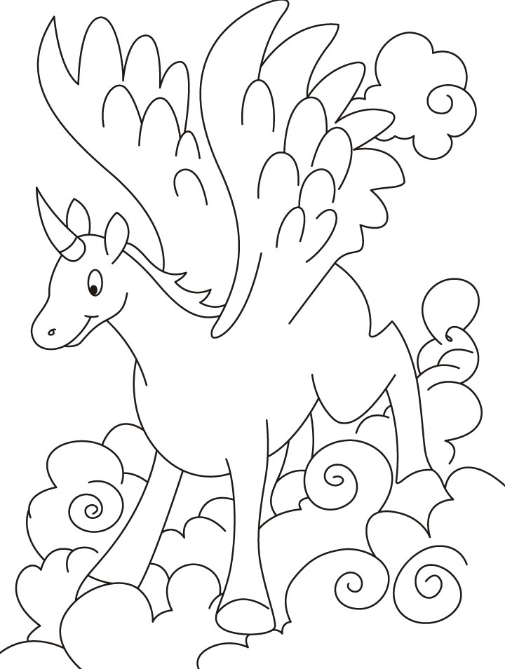 flying unicorn coloring pages download free flying unicorn - Pages Download Free