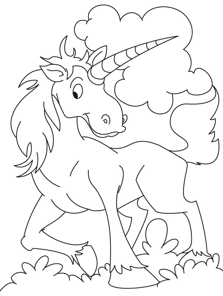 free coloring pages of animated unicorn