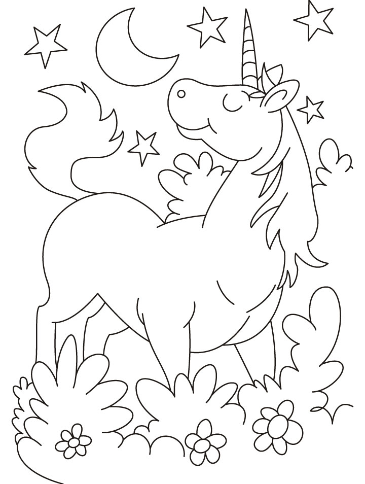 Cartoon unicorn coloring pages | Download Free Cartoon ...