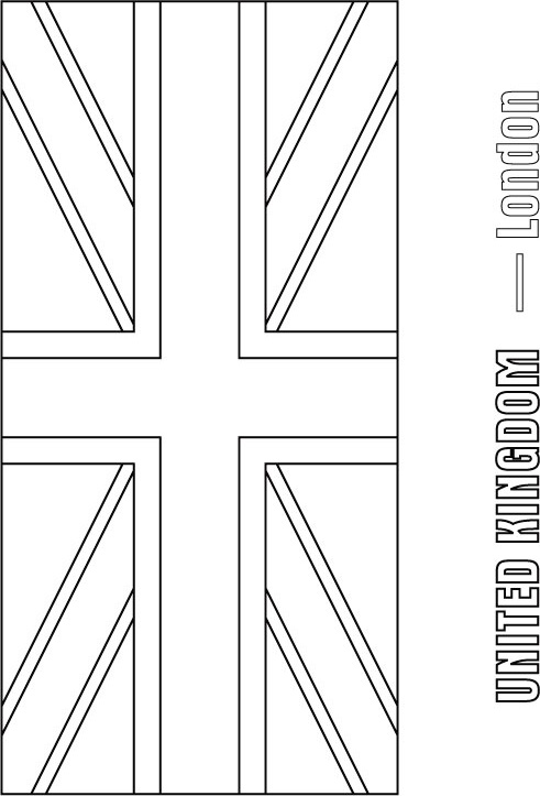 British Flag Printable Coloring Pages Uk Flag Coloring Page
