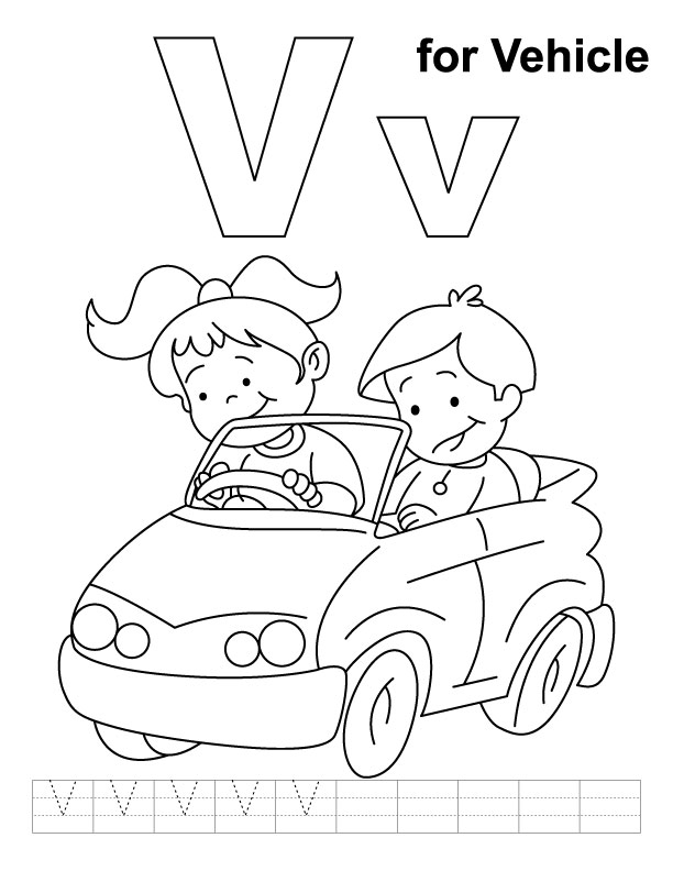 v is for volcano coloring pages - photo #14