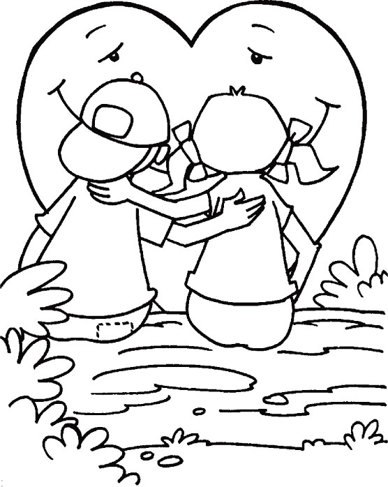 Happy valentine Day coloring page