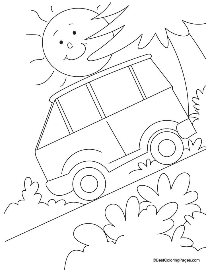 Steep Slope Coloring Page Download Free Steep Slope
