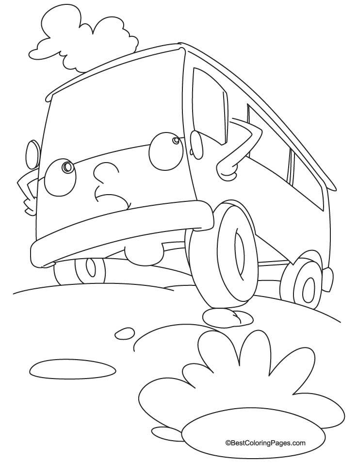 vintage vw bus coloring coloring pages