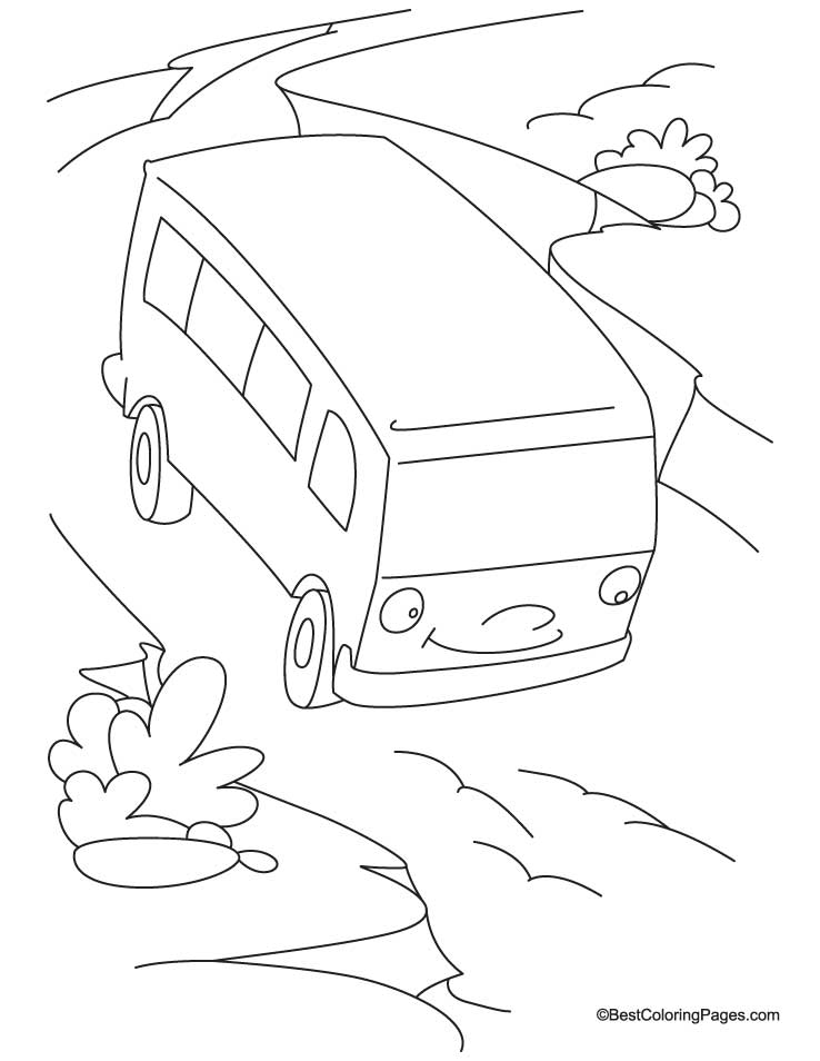 Colouring Picture Van : Minivan colouring pages page