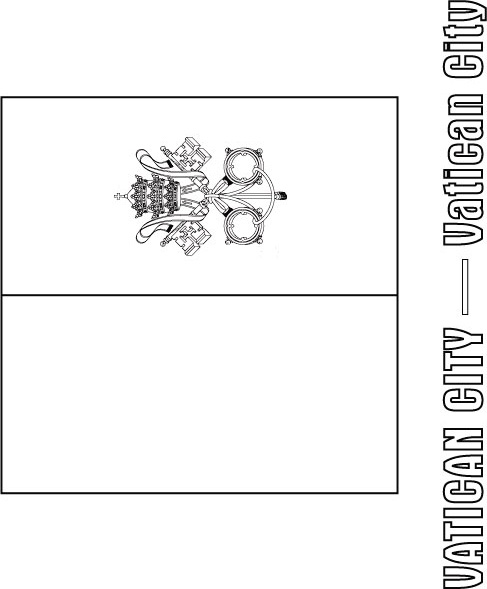 Vatican City Flag Coloring Page