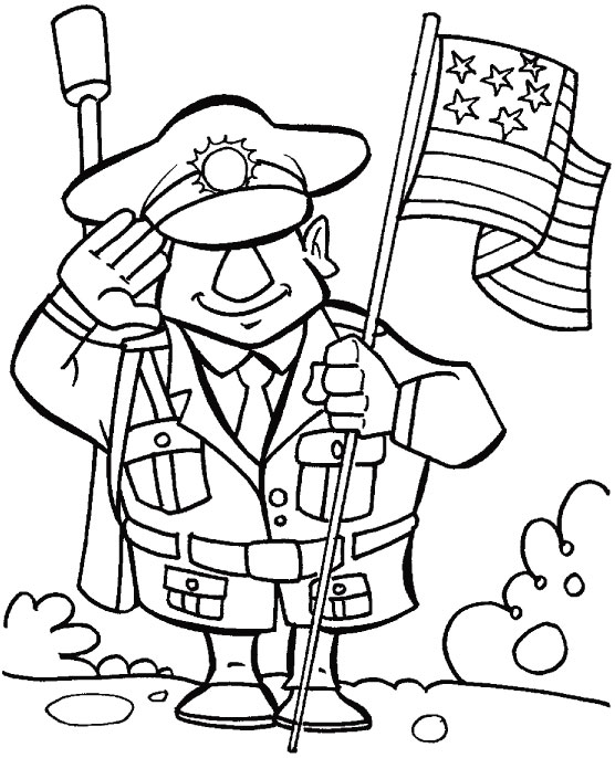 Thanks For Veterans Making Our Country Safe Coloring Page