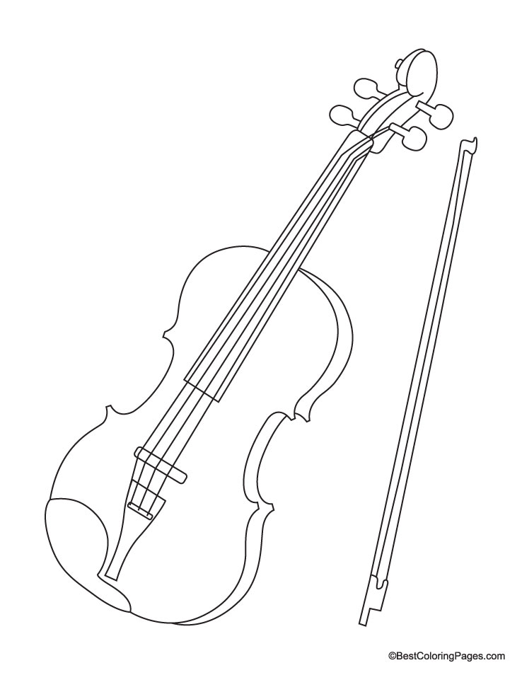 Violin coloring page Download Free Violin coloring page