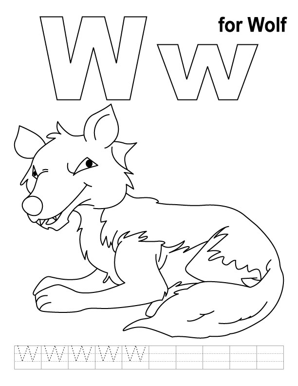 Alphabet Coloring Pages W : Geography letter w coloring pages