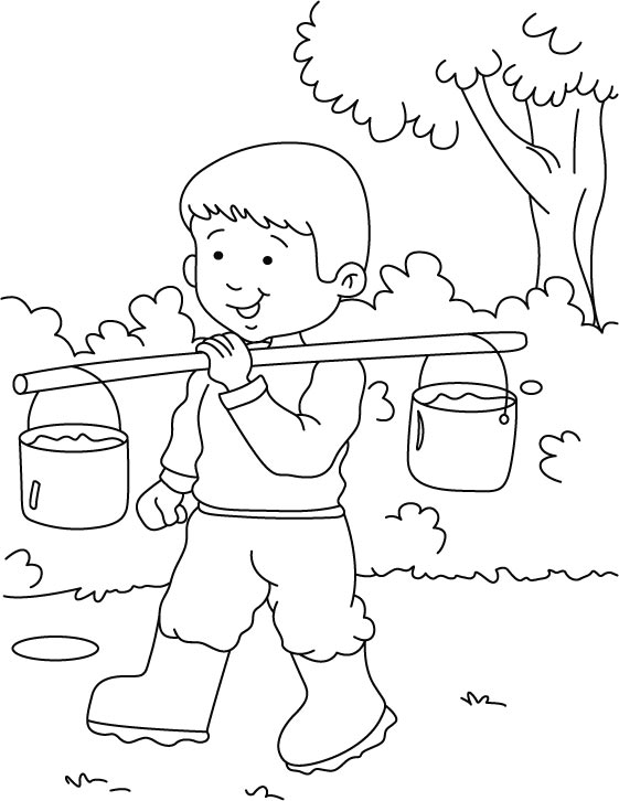 Walking in jungle coloring page | Download Free Walking in ...