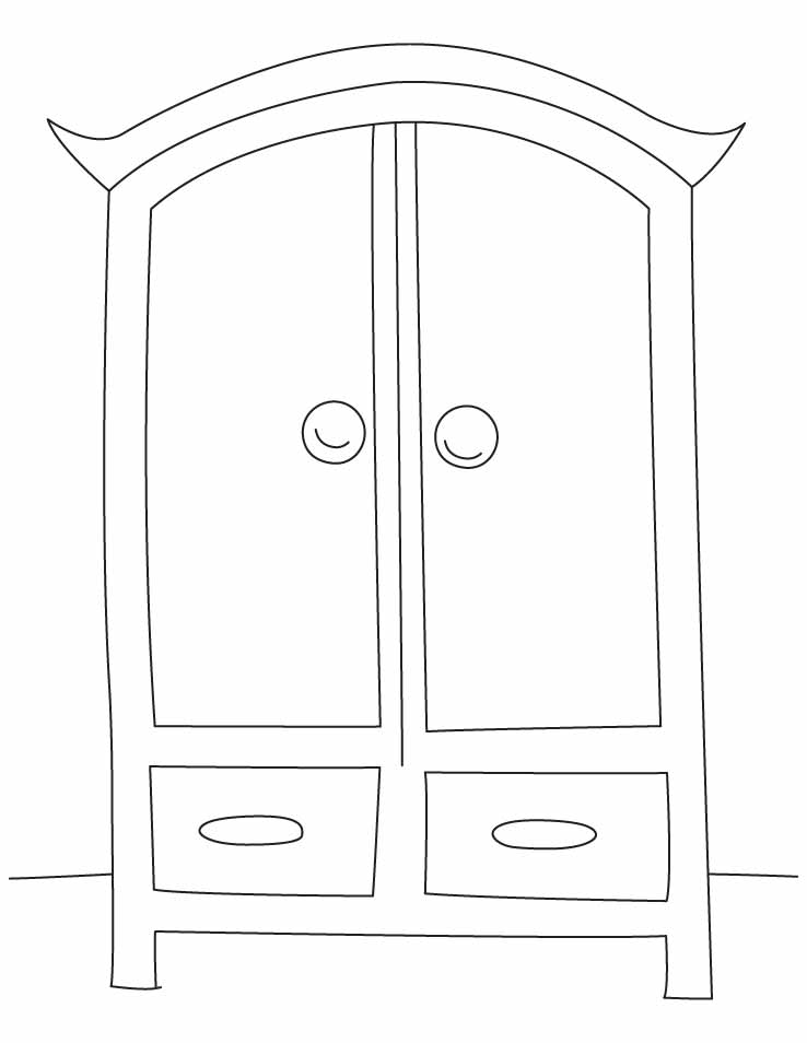 Wardrobe clipart black and white  Wardrobe coloring pages | Download Free Wardrobe coloring pages ...