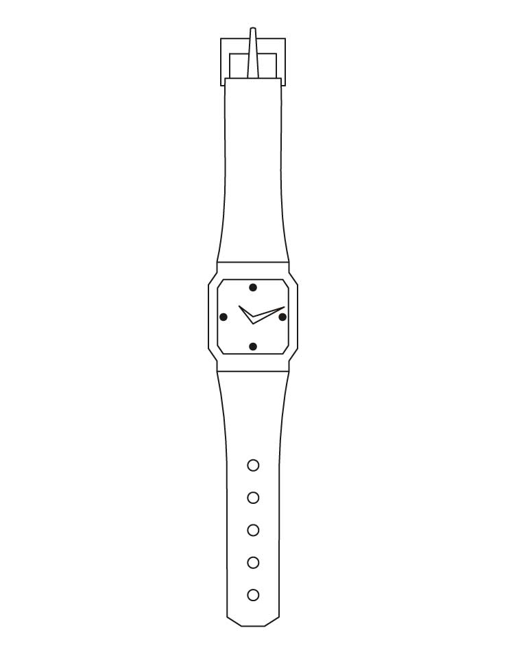 Ladies watch coloring pages download free ladies watch for Watch coloring page