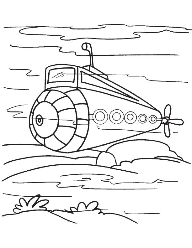 submarine d coloring pages