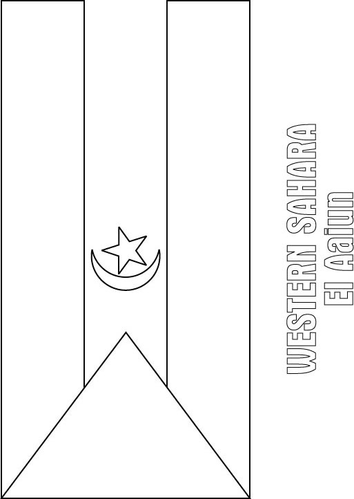 Free Coloring Pages Of Flag Of Nigeria Nigeria Flag Coloring Page