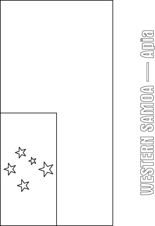 Western Samoa Flag Coloring Page Download Free Western