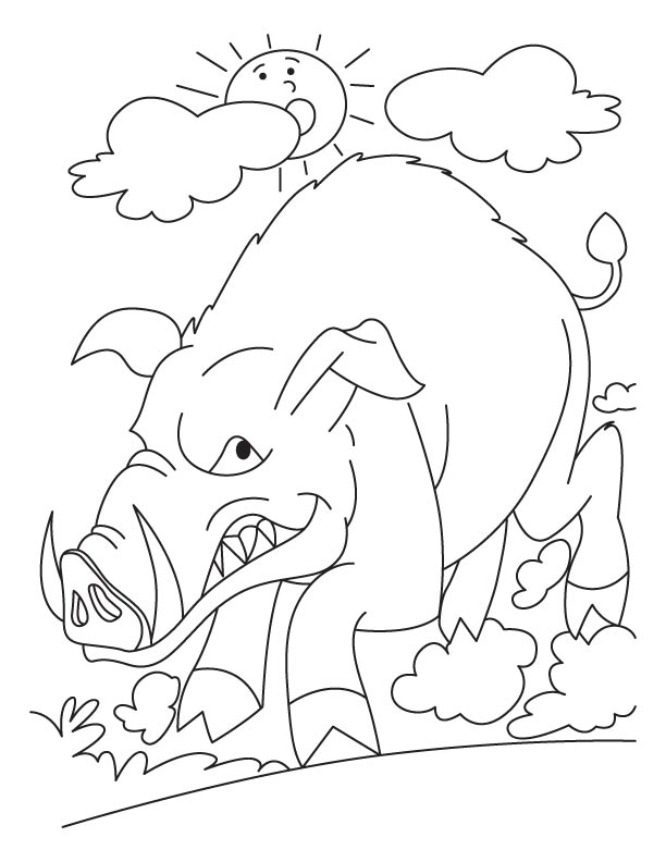 Anguish Wild Boar coloring pages