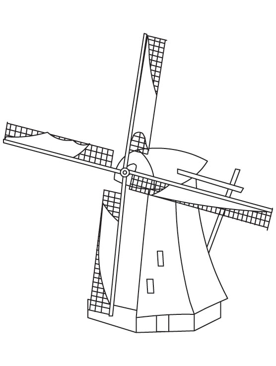 Windmill coloring page