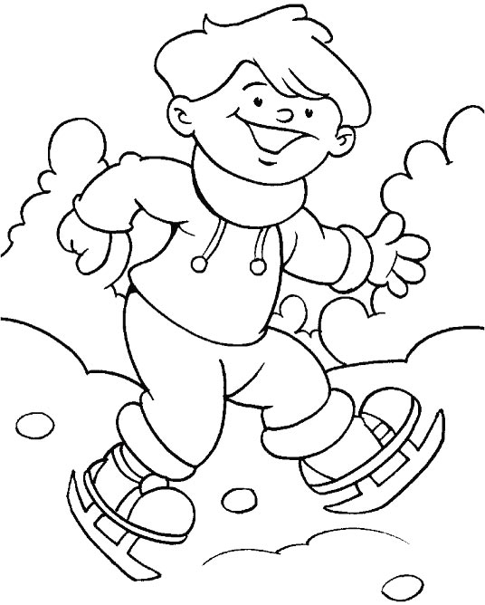 Winter is well set now, lets have a walk coloring page | Download ...