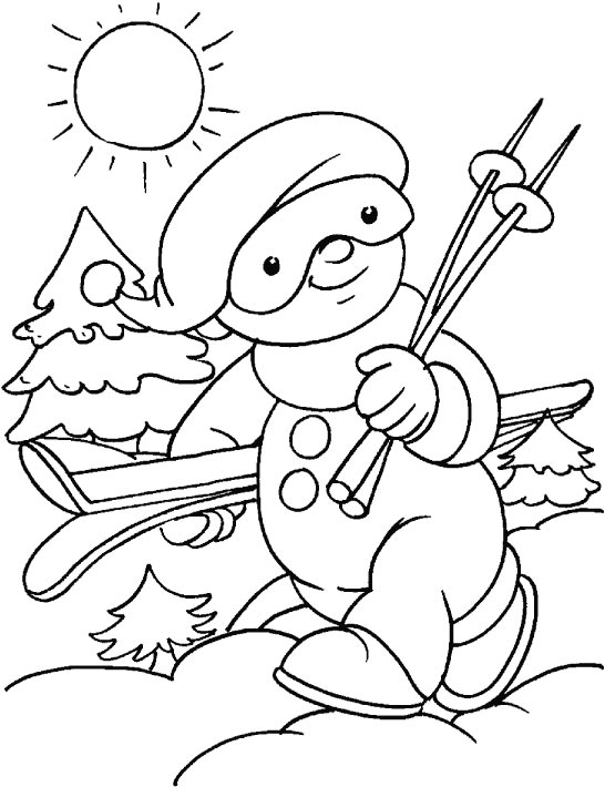o great sunny day  lets have some fun coloring page