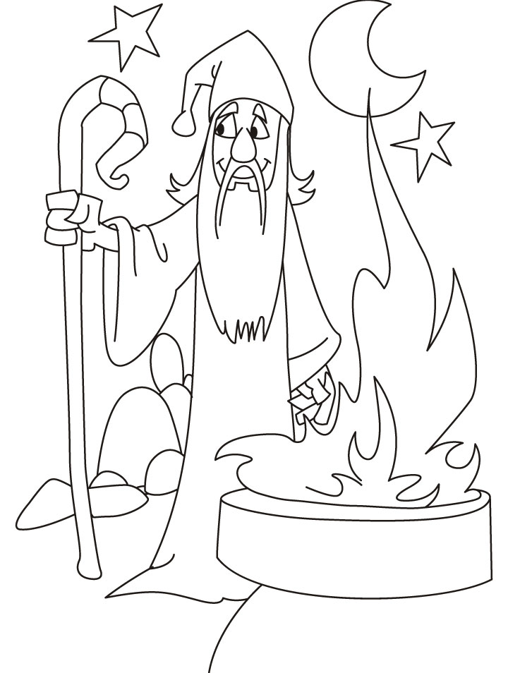 Night wizard coloring pages | Download Free Night wizard coloring ...