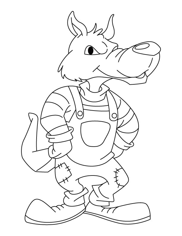 Smart Wolf Coloring Pages