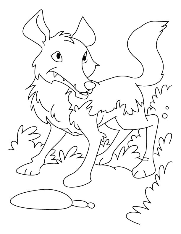 Long-legd wolf coloring pages