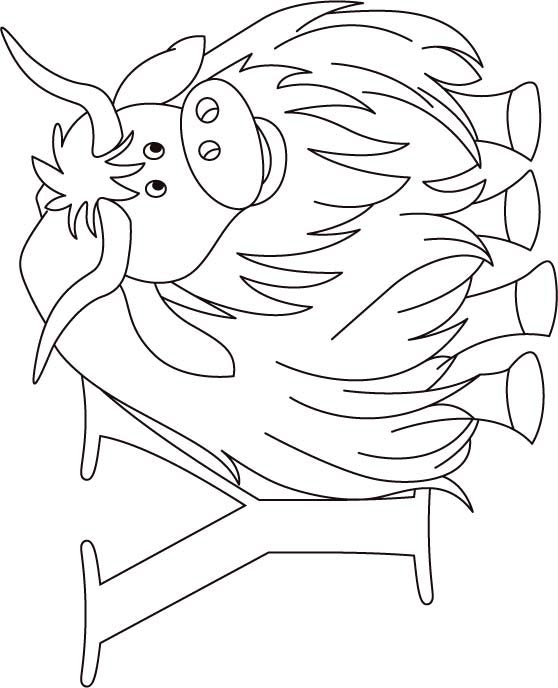 Y for yak coloring page for kids Download Free Y for yak