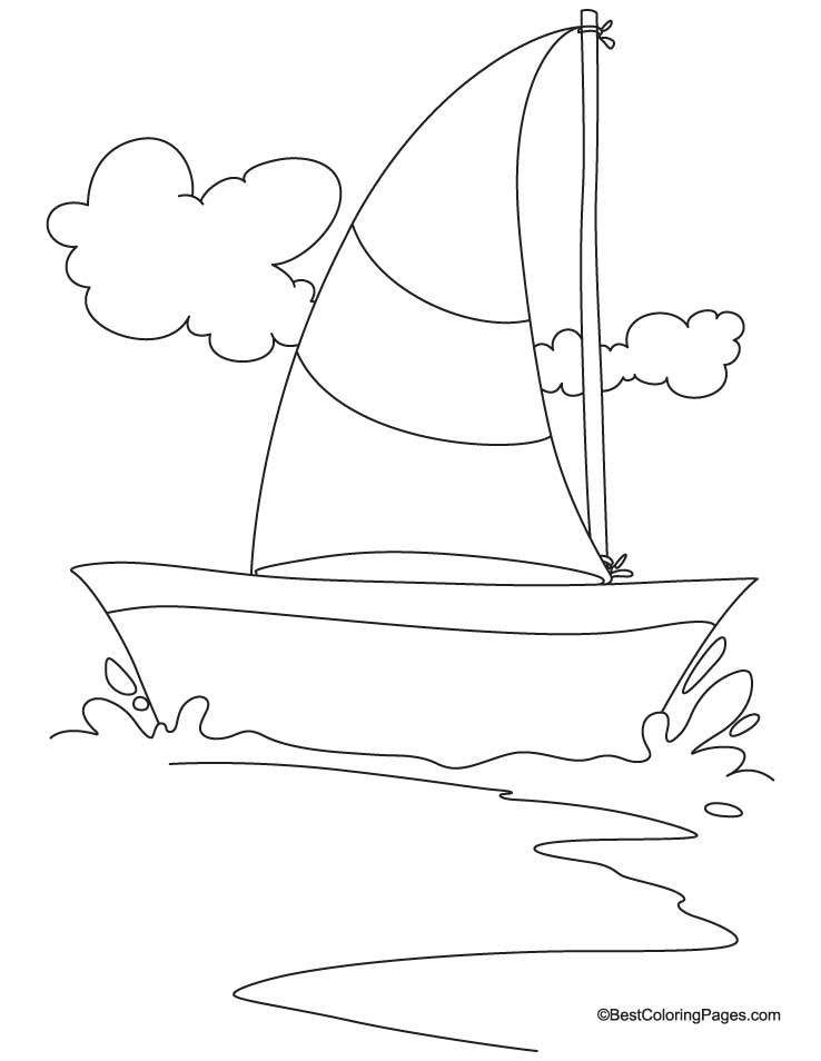 Sailing yacht coloring page Download