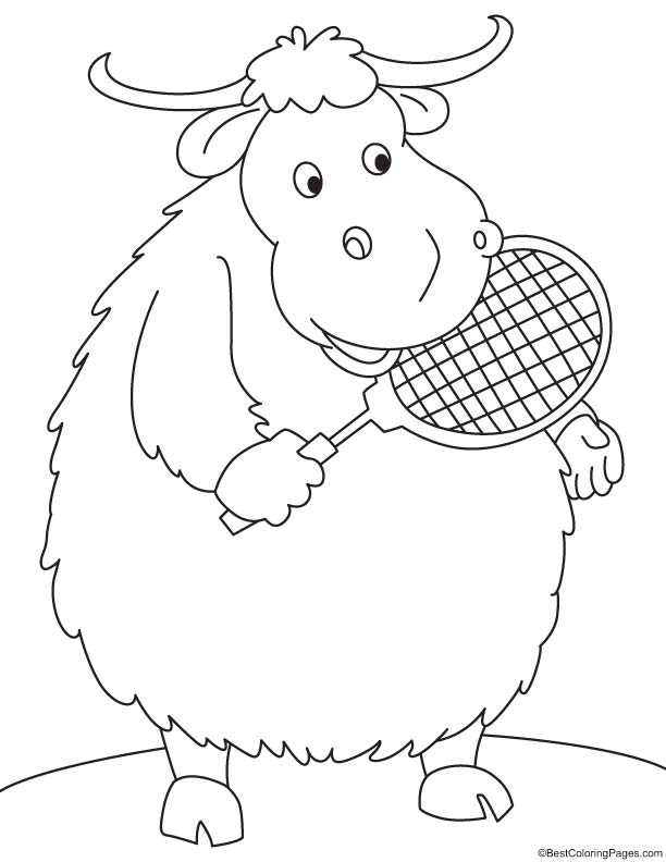 Coloring Pages Yak : Yak coloring pages