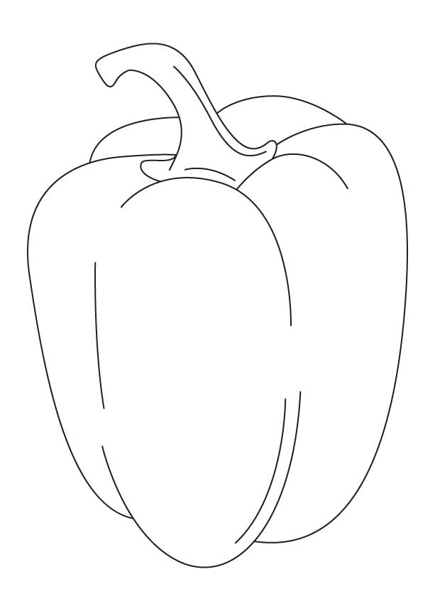 Yellow Capcicum Coloring Page
