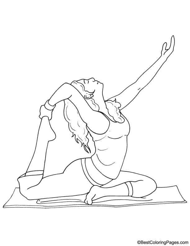 Yoga coloring page