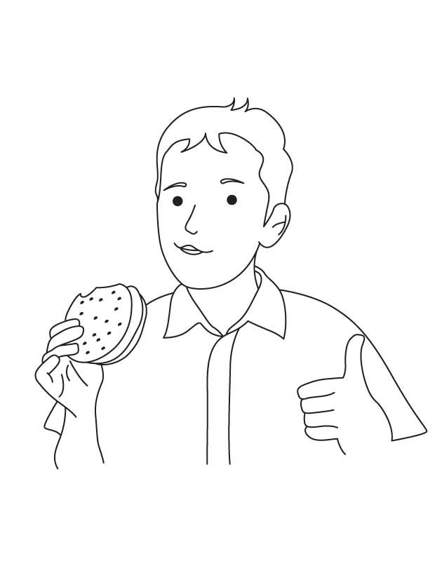 Yummy burger coloring page Download