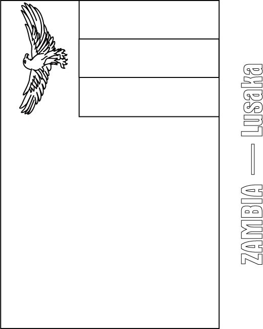 zambia flag coloring page - photo #5