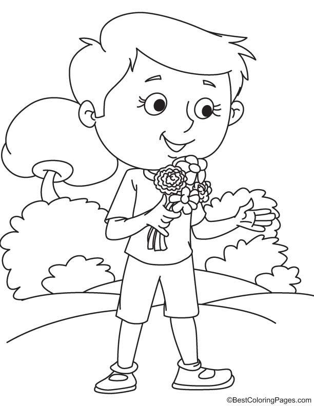 Zinnia flower coloring page Download Free Zinnia flower