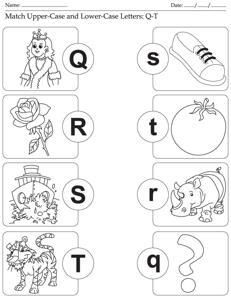 alphabet coloring pages upper lower - photo#37