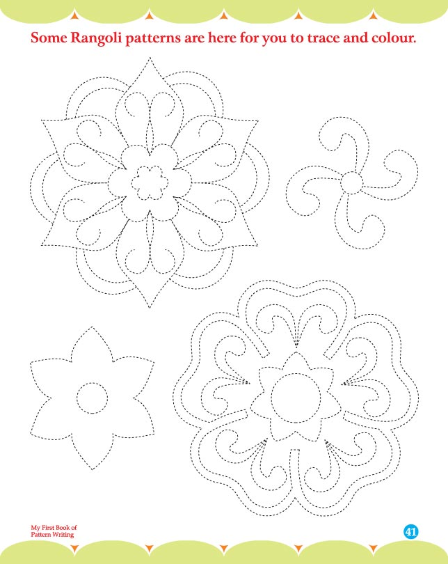 Some rangoli patterns are here for you to trace and colour | Download ...