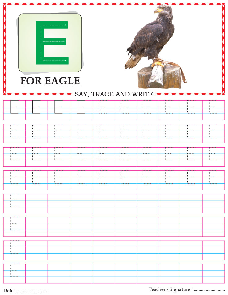 Capital letter writing practice