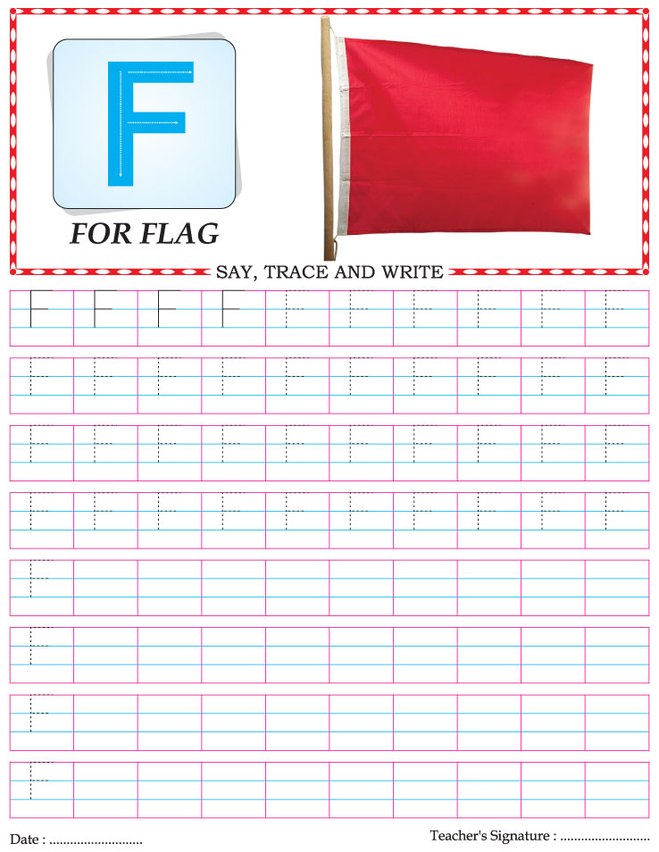capital letter writing practice worksheet alphabet f download free