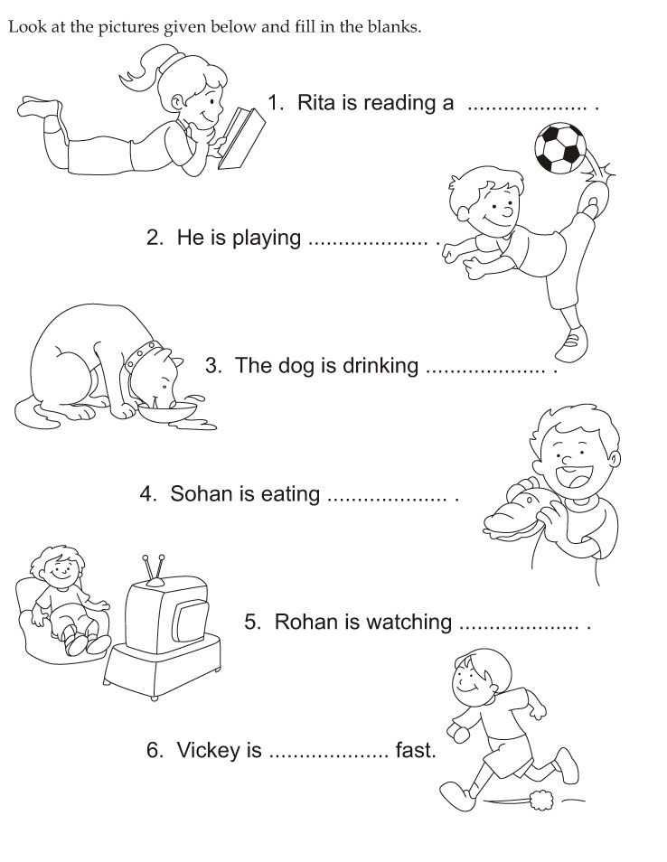 Download english activity worksheet look at the pictures given below ...