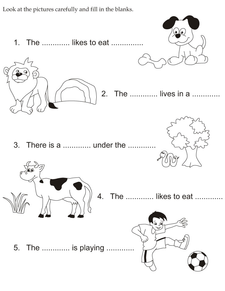 Look at the pictures carefully and fill in the blanks | Download Free ...