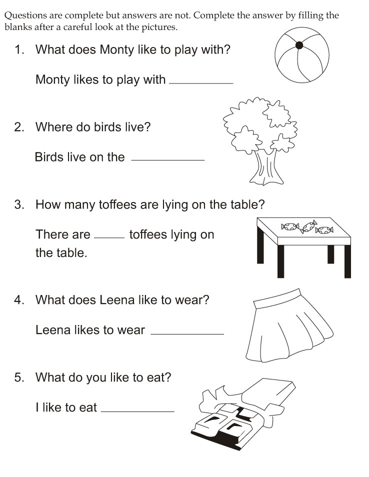 Kindergarten Fill In The Blank Worksheets sight word – Kindergarten Fill in the Blank Worksheets