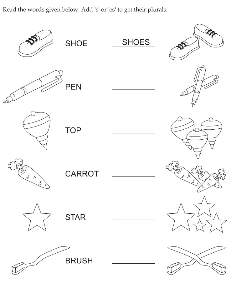 irregular plurals Colouring Pages