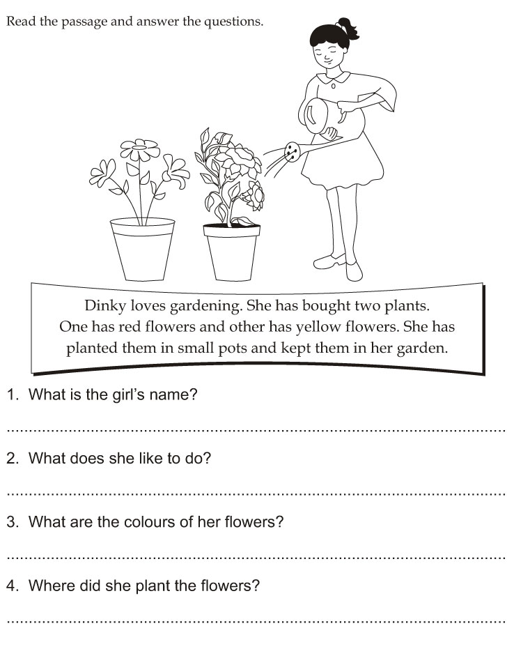 Worksheets Read The Passage read the passage and answer questions download free questions